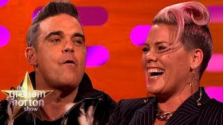 Download Pink Confused Robbie Williams With a Chef | The Graham Norton Show Video
