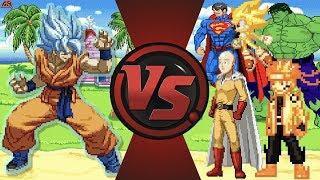 Download Goku vs The World! (Goku vs Saitama, Sonic, Hulk, Naruto & More) Dragon Ball Super Animation Rewind Video