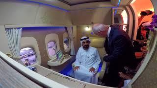 Download HH Sheikh Mohammed bin Rashid Al Maktoum visits New Emirates First Class Private Suite Video
