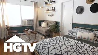 Download Stylish Studio Apartment Makeover - HGTV Video
