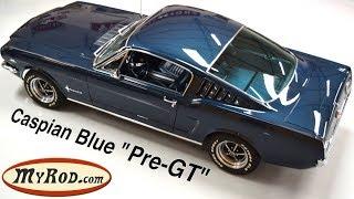 Download 1965 Mustang Fastback ″Pre-GT″ Caspian Blue - MyRod Video