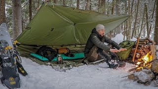Download Solo Overnight in a Snow Storm. Winter Camping With Subscriber Gear. Video