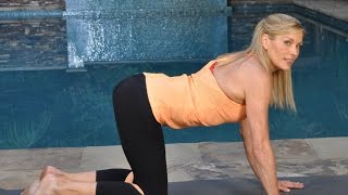 Download Sleep Better 10 minute Yoga Stretch - True Beginner Fitness Challenge & Meal Plan Day 8 & 21 Video