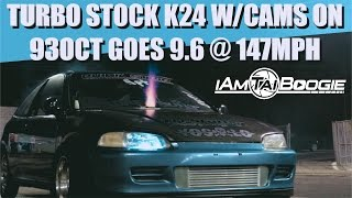 Download MRNEWGEN 1 OF THE FASTEST PUMP GAS Turbo Stock K24 w/cams Goes 9.60s ! Video