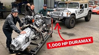 Download 1000 HP DURAMAX SWAPPING MY HUMMER H1 PREDATOR BUILD! Video