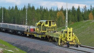 Download Worlds largest track layer - Plasser & Theurer SVM1000 Infranord at Haparandabanan, Sweden Video