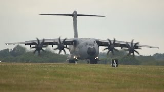 Download Airbus A400M Atlas arrival at RIAT 2015 AirShow Video