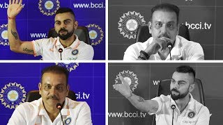Download Kohli and Shastri - Before and after series defeats | Press Conference Compilation Video