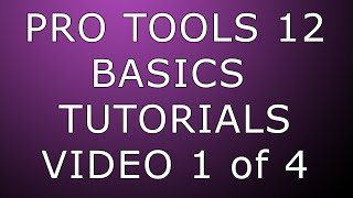 Download Pro Tools 12 Basics Setup & Recording (1080p quality) Video