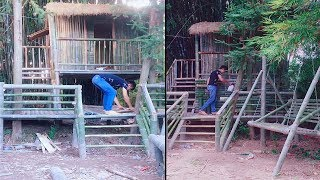 Download Bushcraft : Building beautiful bamboo house Video