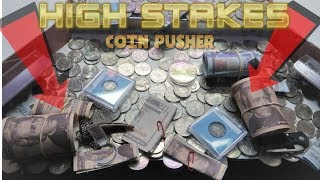 Download I WON $120 on a ″HIGH RISK″ Coin Pusher!! Video