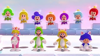Download Super Mario 3D World - All Castles (4 Players) Video