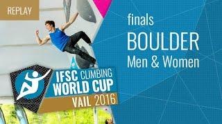 Download IFSC Climbing World Cup Vail 2016 - Bouldering - Finals - Men/Women Video