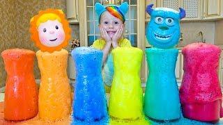 Download Делаем цветную пену и запоминаем цвета под английскую детскую песенку Video