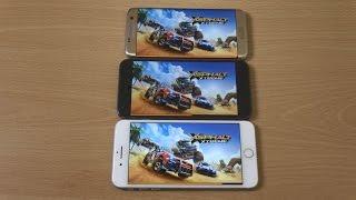 Download Google Pixel XL vs Samsung Galaxy S7 Edge vs iPhone 7 Plus - Gaming Comparison! Video