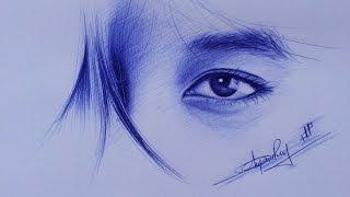 Download Cách vẽ mắt bằng bút bi How to draw eyes with ball pen DP Truong Video
