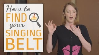Download How to find your singing belt - belting techniques for singers Video