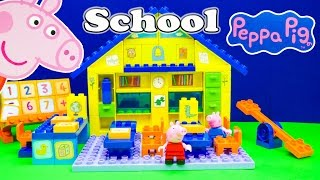 Download Peppa Pig School House Lego Blocks a a Toy Unboxing Video