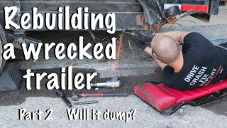 Download Rebuilding a wrecked trailer after a collision part 2 To dump or not to dump? That is the question! Video