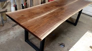 Download Walnut Live Edge Dining Table Four Fields Furniture Video