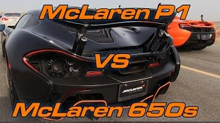 Download McLaren P1 vs McLaren 650S Video
