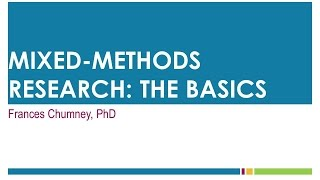 Download Mixed Methods Research: The Basics Video