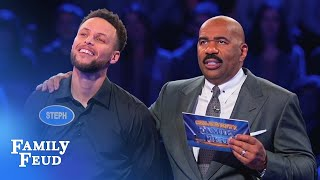 Download Ayesha & Steph Curry SLAM DUNK Fast Money! | Celebrity Family Feud Video