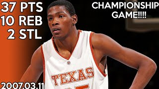 Download Kevin Durant College Highlights vs Kansas for Big 12 Championship (2007.03.11) / 37 points !!! HD Video