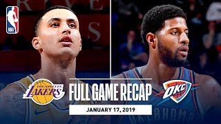 Download Full Game Recap: Lakers vs Thunder | Kuzma Goes Off For 32 Points Video