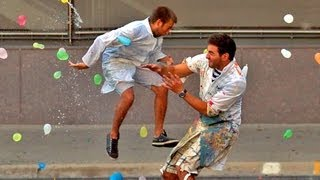 Download Slow Motion Water Balloon Fight with 1500 people Starring Freddie Wong Video