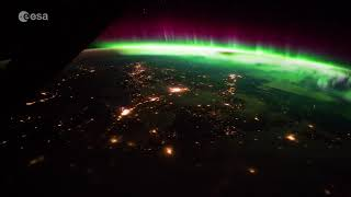Download Stunning aurora as seen from the Space Station Video