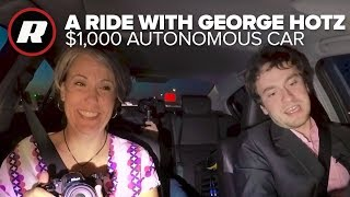 Download We go riding with George Hotz and his $1,000 autonomous car | Comma.ai Video