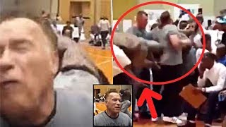 Download Arnold Schwarzenegger Attacked | FLYING KICKED FROM BEHIND !! Video