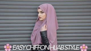 Download EASY CHIFFON HIJAB TUTORIAL | BACK + CHEST COVERAGE | Sarina Video