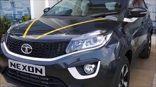Download TATA NEXON Launched | Petrol :5.85 L - 8.59 L, Diesel : 6.85 L - 9.44 L | XZ+ Glasgow Grey color Video