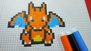 download como hacer a charizard pokemon hama beads pixel art video - dibujos pixel de fortnite