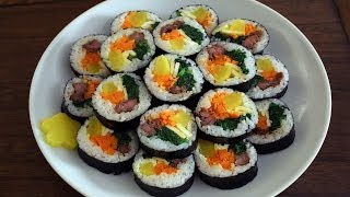 Download How to make gimbap (aka kimbap: 김밥) Video