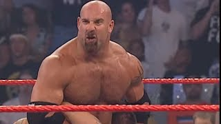 Download Goldberg hits Randy Orton with the Jackhammer: Raw, Sept. 1, 2003 Video