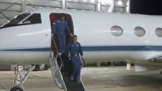 Download Space Station Astronauts Arrive in Houston for Homecoming Video