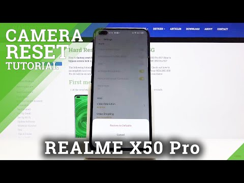 How to Reset Camera REALME X50 PRO 5G - Restore Camera Defaults