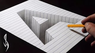 Download Drawing A Hole in Line Paper - 3D Trick Art Video