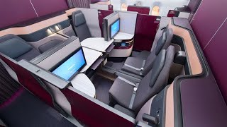 Download Qatar Airways A350 Qsuites from Frankfurt to Doha: world's best Business Class (AMAZING!) Video