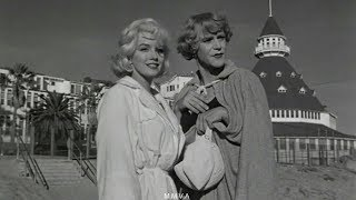 Download Marilyn Monroe In ″Some Like It Hot″ - Movie Scene And Rare Onset Footage Video