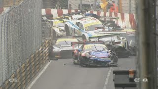 Download FIA GT World Cup 2017. Qualification Race Macau Grand Prix. Huge Pile Up Video