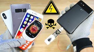 Download USB Killer vs Google Pixel 2, iPhone 8/X Fake & More! Instant Death? Video