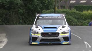 Download Subaru WRX TT Attack car smashes Isle of Man TT car lap record Video