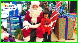 Download Ryan and Babies first time meeting the real Santa Claus at Disney! Video