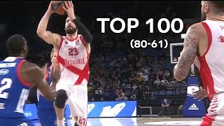 Download Top 100 Plays of the 2017-18 Turkish Airlines EuroLeague: 80 to 61 Video