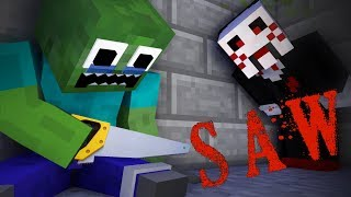 Download Monster School : THE SAW - Minecraft Animation Video