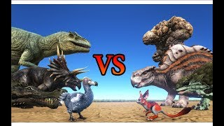 Download THE ISLAND vs SCORCHED EARTH Creatures || ARK: Survival Evolved Video